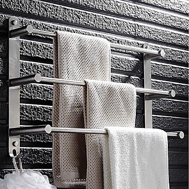 preiswerte Home&Living-Handtuchhalter Mehrlagig Modern Edelstahl 1pc - Bad / Hotelbad 3-Handtuch-Bar Wandmontage