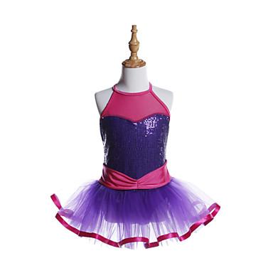 Ballet Vestidos Chica Entrenamiento / Rendimiento Licra / Tul / Lentejuelas Cinta / Lazo / Lentejuela Sin Mangas Vestido