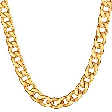 povoljno Modne ogrlice-Muškarci Lančići Kubanska veza Mariner Chain Hiperbola Moda Hip Hop Tikovina Crn Zlato Srebro 55 cm Ogrlice Jewelry 1pc Za Dar Dnevno