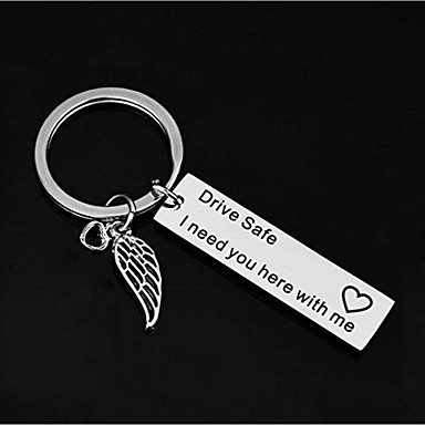 cheap Wedding Favors-Classic Theme / Creative / Wedding Keychain Favors Stainless Keychains - 1 pcs All Seasons
