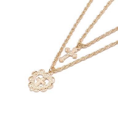 Žene slojeviti Ogrlice Dvaput Slojeviti Legura Zlato 45.0  * 45.0  * 2.0 cm Ogrlice Jewelry 1pc Za Vjenčanje