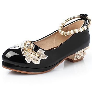 Djevojčice Udobne cipele PU Cipele na petu Dijete (9m-4ys) / Mala djeca (4-7s) Obala / Crn / Pink Proljeće / Jesen