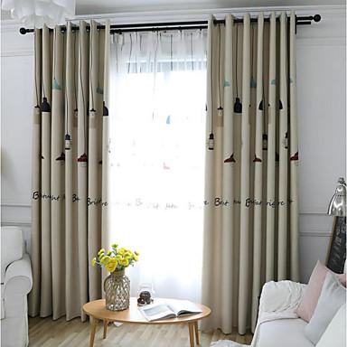 Mediterráneo Blackout cortinas cortinas Dos Paneles Cortina ...