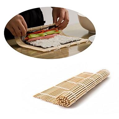 cheap Kitchen Utensils & Gadgets-Japanese Sushi Roll Bamboo Mat Hand Roller DIY Maker Rice Mold 24cm