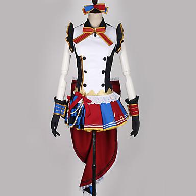 Inspiriert von Love Live Dienstmädchenuniform / Cosplay Anime Cosplay Kostüme Japanisch Cosplay Kostüme Mehrfarbig / Patchwork Kleid / Handschuhe / Schleife Für Herrn / Damen