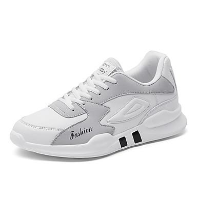 Ανδρικά Παπούτσια άνεσης Φουσκωτό πηνίο Άνοιξη / Φθινόπωρο Αθλητικά Παπούτσια Μαύρο / Κόκκινο / Γκρίζο