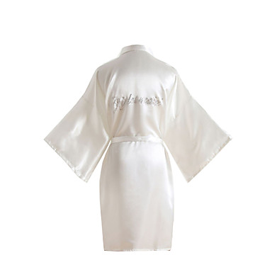 Faux Silk Robes Wedding Non-personalized