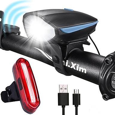 Led Lights Set Bike Led Lights Bicycle Front Head Lights+Bike Rear Flashlight VV