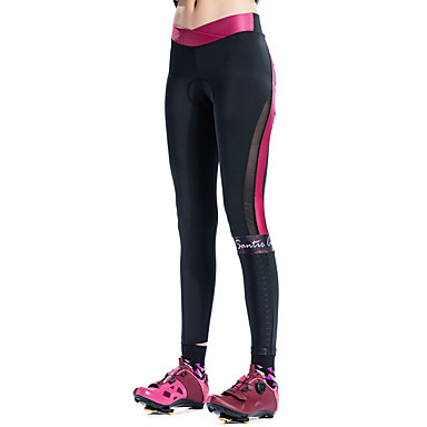 f8d5fe054ea1 SANTIC Women s Cycling Tights Bike Tights Pants Bottoms Thermal   Warm  Breathable 3D Pad Sports Solid Color Elastane Pink   Burgundy Clothing  Apparel Racing ...
