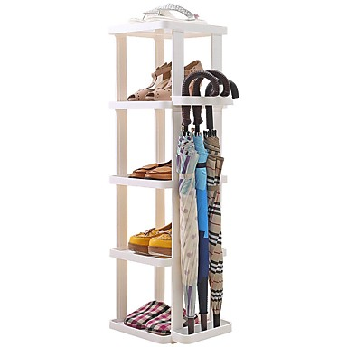 preiswerte Schuhe Zubehör-Schuhablagen & Aufhänger Kunststoff 5 Stufen Unisex Weiß