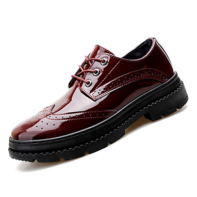 Muškarci Cipele Bullock Lakirana koža Jesen Posao Oksfordice Prozračnost Crn / Lila-roza