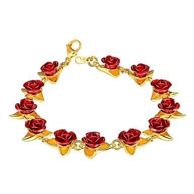 povoljno Modne narukvice-Žene Narukvica kameja Roses dame Moda Kamen Narukvica Nakit Rose Gold / Zlato / Srebro Za Dar Dnevno