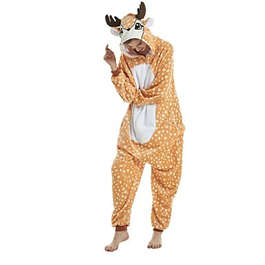 Adults  Kigurumi Pajamas Giraffe Onesie Pajamas Flannel Fabric Orange  Cosplay For Men and Women Animal Sleepwear Cartoon Festival   Holiday  Costumes 6998946 ... 2950fd948
