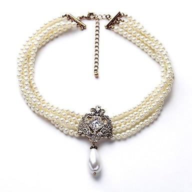 Žene Ogrlica od perla Više slojeva dame Stilski Jednostavan Imitacija bisera Legura Obala 40+8 cm Ogrlice Jewelry 1pc Za Dnevno Cosplay nošnje