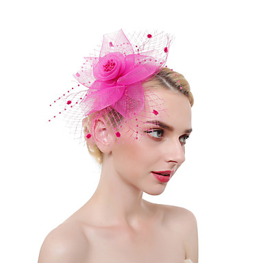 Tulle   Feathers Fascinators   Headdress   Headpiece with Feather 1 Piece  Party   Evening   Business   Ceremony   Wedding Headpiece 7043622 2019 –   9.99 2d9fa1f7e5d