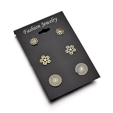 Žene Sitne naušnice Klasičan Cvijet dame Romantični Elegantno Naušnice Jewelry Mesing Za Spoj Festival 3 para
