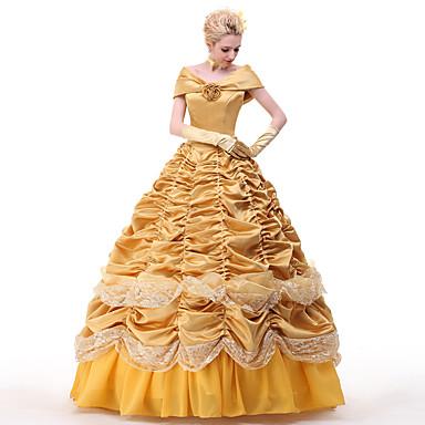 Princeza ljepotica Haljine Cosplay Nošnje Sve Filmski Cosplay Bijela Haljina Petticoat Uzde Božić Halloween New Year Saten