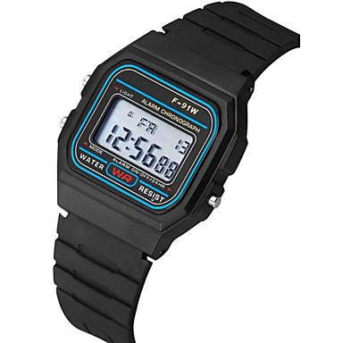 levne Pánské-Pro páry Náramkové hodinky Digitální Silikon Černá Kalendář Chronograf Svítící Digitální Skládaný Minimalistické - Černá Jeden rok Životnost baterie / SSUO 377
