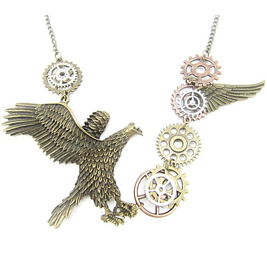 Žene Vintage ogrlica Vintage Style Orao Gear dame Stilski Vintage Steampunk Legura Drevni Brončana 61 cm Ogrlice Jewelry 1pc Za Dar Ulica