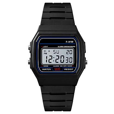 levne Pánské-Pánské Sportovní hodinky Digitální hodinky japonština Digitální Silikon Černá / Rose 30 m Voděodolné Alarm Kalendář Digitální Módní - Černá Fuchsiová / Chronograf / Stopky / Svítící