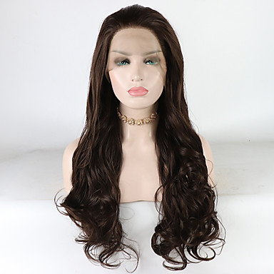 Synthetic Lace Front Wig Loose Wave   Loose Curl Brown Free Part Brown 180%  Density Synthetic Hair 18-26 inch Women s Heat Resistant   Synthetic   Best  ... 373a899168