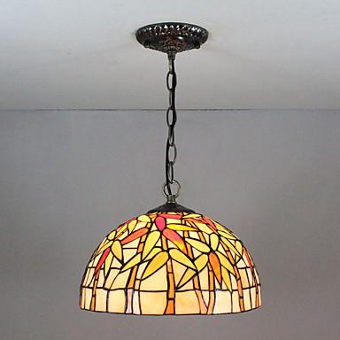 Privjesak Svjetla Ambient Light Slikano završi Glass Glass Višebojno sjenilo, Kreativan 110-120V / 220-240V