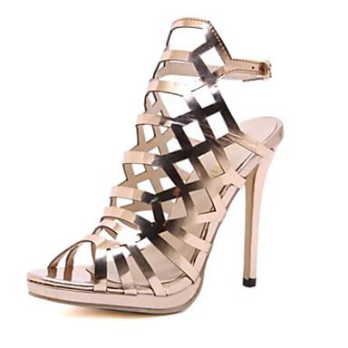 fbc06566d Women s PU(Polyurethane) Spring   Summer Classic Sandals Stiletto Heel Open  Toe Gold 7033797 2019 –  44.99