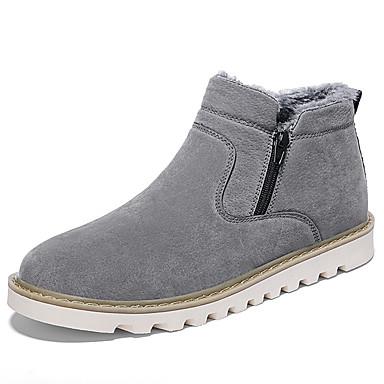 Muškarci Čizme za snijeg Sintetika Zima Vintage / Ležerne prilike Čizme Ugrijati Čizme gležnjače / do gležnja Crn / Sive boje / Žutomrk / Ured i karijera / Vojničke čizme