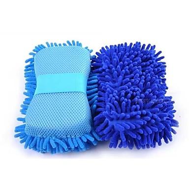 billige Rengjøringsverktøy-multi-funksjon mikrofiber bilvask svamp premium chenille vaske svamper for bil