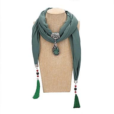 povoljno Modne ogrlice-Žene Ogrlica od šalova Long dame Tropical Romantični slatko Poly / Cotton Plava Lila-roza Svijetlo zelena 200 cm Ogrlice Jewelry 1pc Za Party Zabava / večer
