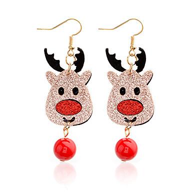 levne Dámské šperky-Dámské Visací náušnice Boncuklar Elk Jelen dámy Přizpůsobeno Animák Cute Style Náušnice Šperky Zlatá Pro Vánoce Karneval 1 Pair