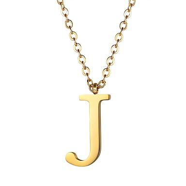 povoljno Modne ogrlice-Žene Ogrlice s privjeskom Logo Ime Alphabet Shape dame Moda Tikovina Zlato Crn Pink 55 cm Ogrlice Jewelry 1pc Za Dar Dnevno