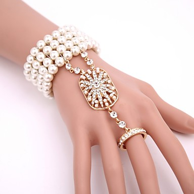 Womens Lace Bracelet Vintage White Lace Bracelets Bangles for Women Gothic Jewelry Handmade Women Accessories Lady Party Jewelry WS-53