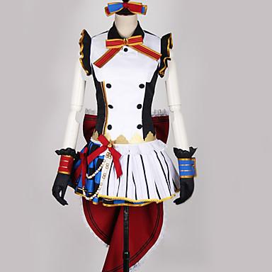 Inspirerad av Love Live Piguniform / Cosplay Animé Cosplay-kostymer Japanska cosplay Suits Lappverk / Blandad färg Klänning / Handskar / Rosett Till Herr / Dam
