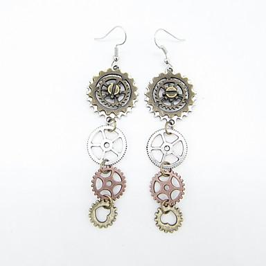 povoljno Modne naušnice-Žene Viseće naušnice Vintage Style Gear dame Stilski Vintage Steampunk kinetički Naušnice Jewelry Gold / bijela Za Ulica 1 par