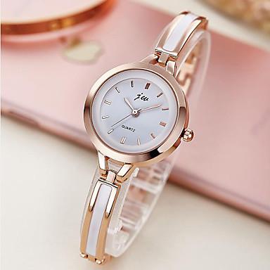 levne Dámské-Dámské Náramkové hodinky zlaté hodinky Křemenný Manžety Ivory Hodinky na běžné nošení Analogové dámy Elegantní Minimalistické - perlová Gold / White