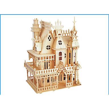 voordelige 3D-puzzels-3D-puzzels Legpuzzel Houten modellen Modelbouwsets Kasteel Beroemd gebouw Hout Natuurlijk Hout Volwassenen Unisex Geschenk