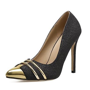 ea020a85921 Women s PU(Polyurethane) Spring   Summer   Fall   Winter Heels Stiletto Heel  Pointed Toe Black   Silver   Color Block 7032870 2019 –  29.99