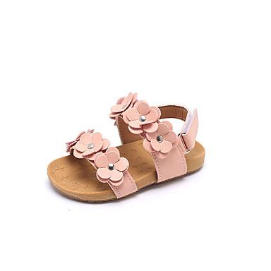 voordelige Babyschoenentjes-Meisjes Comfortabel Imitatieleer Sandalen Peuter (9m-4ys) / Little Kids (4-7ys) Wit / Roze Zomer