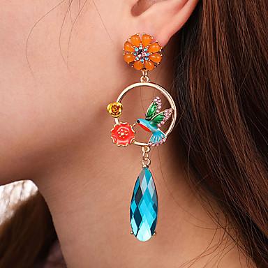 povoljno Modne naušnice-Žene Plav Sintetički Sapphire Viseće naušnice Klasičan Long dame Umjetnički Moda Elegantno Naušnice Jewelry Plava Za Dnevno Ulica 1 par