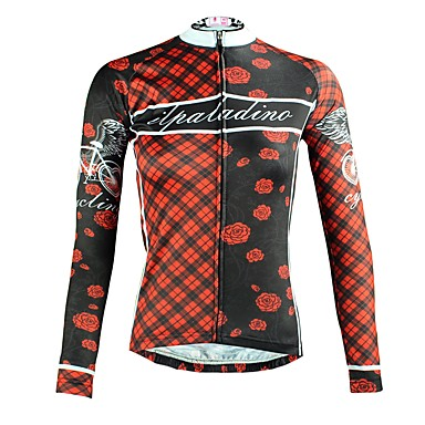 ILPALADINO Women s Long Sleeve Cycling Jersey - Black Floral   Botanical Bike  Top Ultraviolet Resistant Sports Winter Elastane Mountain Bike MTB Road Bike  ... 4f814a1dc