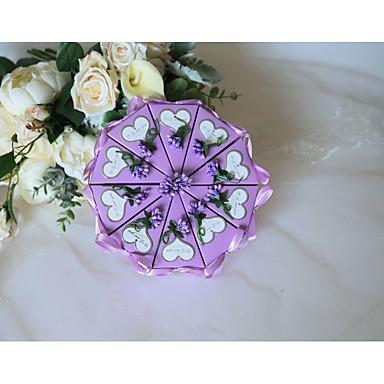 Lenonice Silk Like Satin / Art Paper Naklonost Holder s Satin Bow / Srcoliki izrez Milost Kutije / Poklon kutije - 10pcs