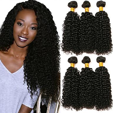 6 paketića Malezijska kosa Kinky Curly Ljudska kosa Ljudske kose plete Styling kose Bundle kose 8-28 inch Prirodna boja Isprepliće ljudske kose Dar Smooth Žene Proširenja ljudske kose