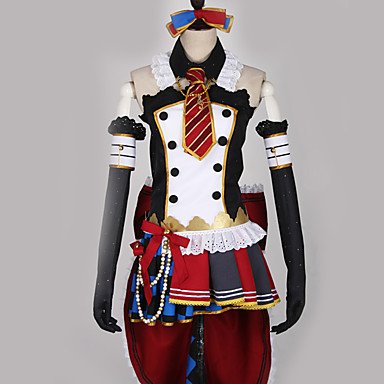Inspired by Love Live Maid Costume / Cosplay Anime Cosplay Costumes Japanese Cosplay Suits Patchwork / Mixed Color Dress / Bow / More Accessories For Men's / Women's