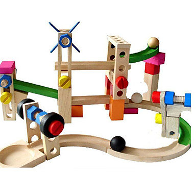 Kocke za slaganje Izgradnja mramorne trke Mramorna vožnja 38 pcs Kreativan Lopta kompatibilan Legoing Ručno izrađeni Interakcija roditelja i djece Sve Igračke za kućne ljubimce Poklon