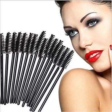 preiswerte andere Bürsten-Professional Makeup Bürsten 50 Stück Umweltfreundlich Professionell Künstliches Haar Plastik zum Make-up Pinsel Augenbraue-Bürste