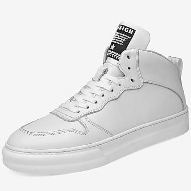 Muškarci Kožne cipele Mekana koža Jesen zima Sportski / Stil preppy Sneakers Ugrijati Crn / Obala / Atletski / Udobne cipele