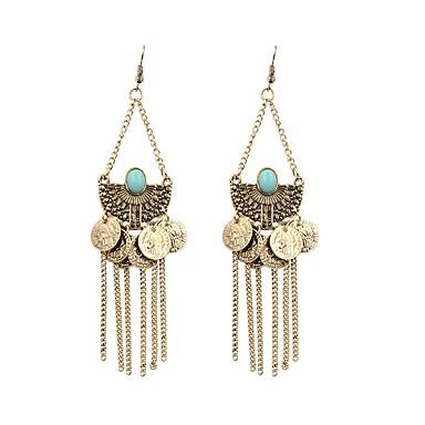 preiswerte Vintage Ohrringe-Damen Tropfen-Ohrringe Retro Lang Retro Ohrringe Schmuck Bronze Für Party Alltag 1 Paar
