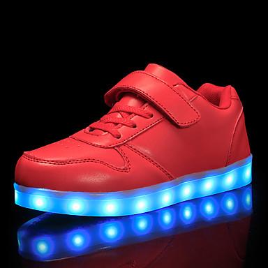 preiswerte Schuhe für Kinder-Jungen Leuchtende LED-Schuhe PU Sneakers Kleine Kinder (4-7 Jahre) / Große Kinder (ab 7 Jahren) Rot / Blau / Rosa Herbst / Gummi
