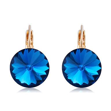 povoljno Modne naušnice-Žene Plav Kristal Viseće naušnice Naušnice na polugama Retro Sunce Jednostavan Moda Elegantno Pozlaćeni Austrijski kristal Naušnice Jewelry Navy Plava Za Dnevno Formalan 2pcs